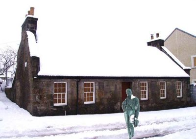 Tannahill Cottage Snow
