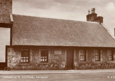 Tannahill's Cottage, Paisley D 1792